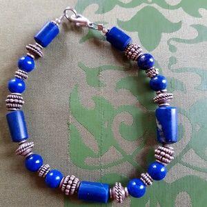 Jewelry - Lapus lazuli & sterling silver bracelet